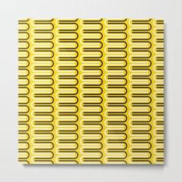 Geometric Pattern 235 (yellow curves) Metal Print