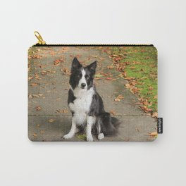 Sparkles the Border Collie Carry-All Pouch