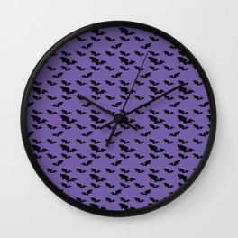 Batty purple Wall Clock
