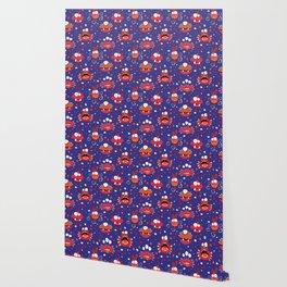 Monster Mash Purple Wallpaper