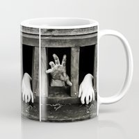 cabin Mugs featuring Cabin Fever by Angela K. Rough