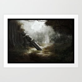 Home Of Once Brave Art Print