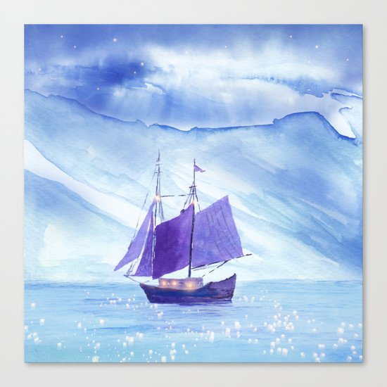 Sailing in Winter Canvas Print