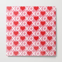 Custom Valentine's Day Pattern Metal Print