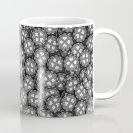 Poker chips B&W / 3D render of thousands of poker chips Coffee Mug