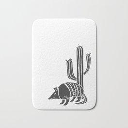 Armadillo in the desert Bath Mat