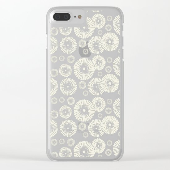 Pink Flowers on Tropical Blush Clear iPhone Case