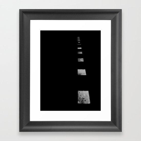 Minimalist Shadows Framed Art Print
