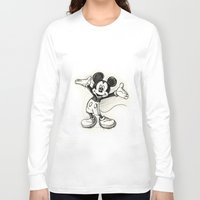 mickey Long Sleeve T-shirts featuring Mickey Mouse by Herself