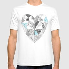 CHEMICAL REACTION  MEDIUM Mens Fitted Tee White