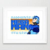 mega man Framed Art Prints featuring Mega Man by 117 Art
