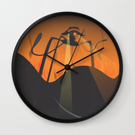 the war of the eyes Wall Clock