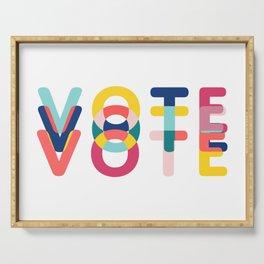 Modern Vote Serving Tray