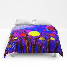 midnight orbishower Comforters
