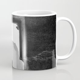 Guy in the Doorway | Black and White Exotic Travel Photography Distant Landscape Coffee Mug