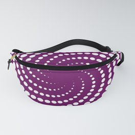 white and purple Fanny Pack