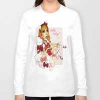 rupaul Long Sleeve T-shirts featuring Hello Katya by tomatosita