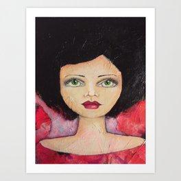 Bella SASS Girl - Cyndi - SASS = STRONG and SUPER SMART Art Print