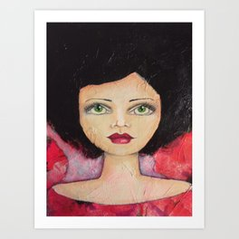 Bella SASS Girl - Cyndi - SASS = STRONG and SUPER SMART Art Print