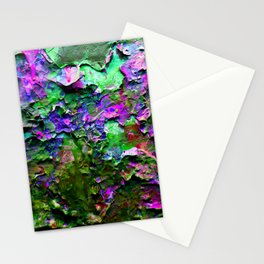 Paint Chips Purple and Green Stationery Cards