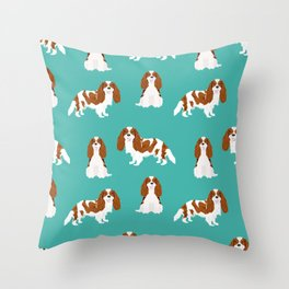 Cavalier King Charles Spaniel blenheim coat dog breed spaniels pet lover gifts Throw Pillow