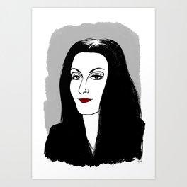 MORTICIA ADDAMS - THE ADDAMS FAMILY Art Print