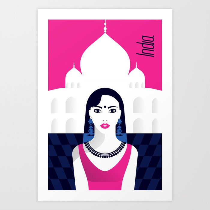 India - Stylish journey Art Print