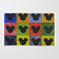 mickey Area & Throw Rugs featuring Mickey by Sierra Christy Art