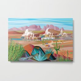 Power Generating Station in Desert Metal Print