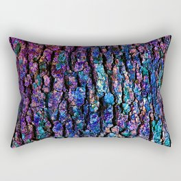 Afantasy Abstraction of Tree Bark Rectangular Pillow