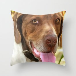 Arthur The Hunting Dog Throw Pillow
