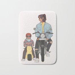 Sirius and harry motorcycle Bath Mat