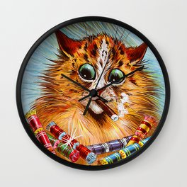"Louis Wain's Cats ""Tom Smith's Crackers"" Wall Clock"