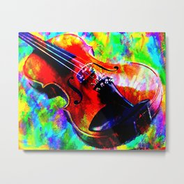 Violin Abstract Metal Print