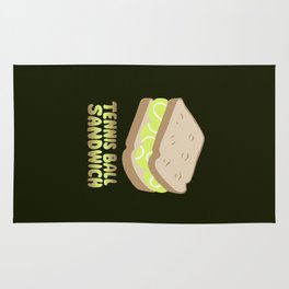 TENNIS BALL SANDWICH Rug