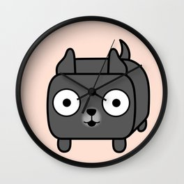 Pitbull Loaf - Blue Pitbull with Cropped Ears Wall Clock
