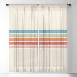 Rainbow Stripes II Sheer Curtain