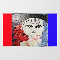 les miserables Area & Throw Rugs featuring LES MISERABLES by JANUARY FROST