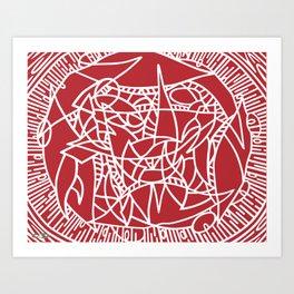 Bushel of Crabs (RED) Art Print