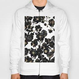 Modern Elegant Black White and Gold Floral Pattern Hoody