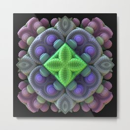 3D Fractal Abstract Thingy Metal Print
