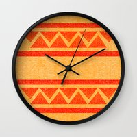 native Wall Clocks featuring Native by elledeegee