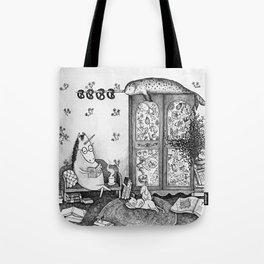 Unicorn house Tote Bag