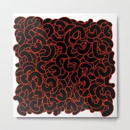 Abstract Black Nuts Metal Print