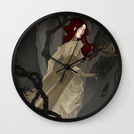 The Black Wood Wall Clock