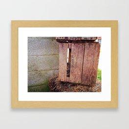 Cat Crate Framed Art Print