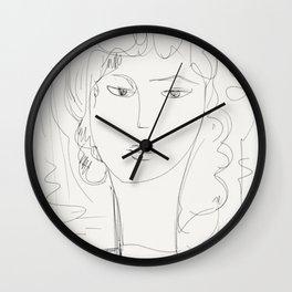 Sketch of a pop girl Wall Clock