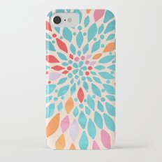 Radiant Dahlia - teal, orange, coral, pink watercolor pattern Slim Case iPhone 7