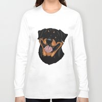 rottweiler Long Sleeve T-shirts featuring Rottweiler by Mickeyila Studios