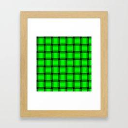 Large Neon Green Weave Framed Art Print